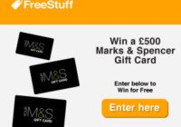Win 500 pounds to spend at M & S