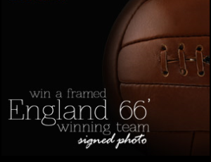 win a signed england team photo